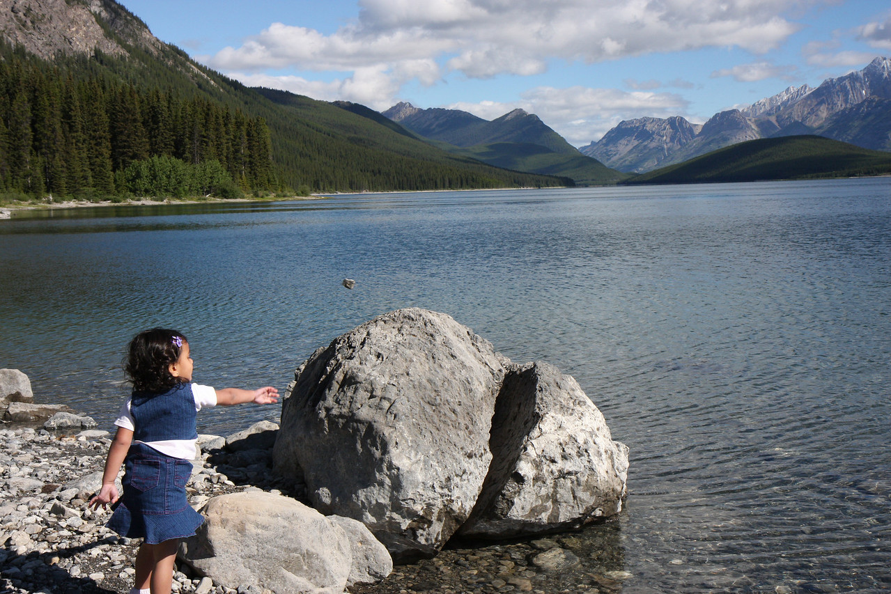 Sakshi at Upper lake, Kananaskis