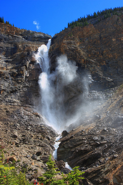 Takakawa Falls in Yoho National Park