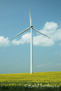 Wind Power Turbine in Manitoba.