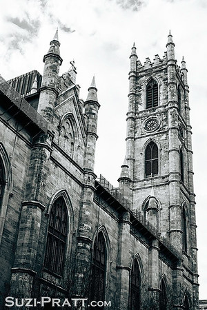 Notre Dame Basilica in Montreal, Quebec, Canada