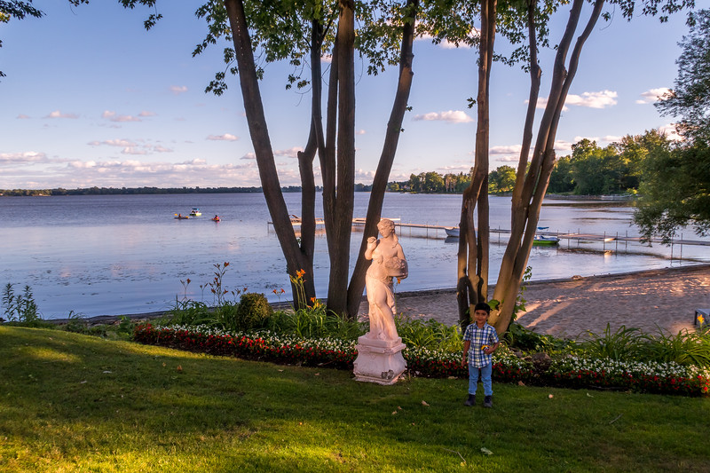 Beautiful Beach on the backyard of our Hotel - Chateau Vaudreuil