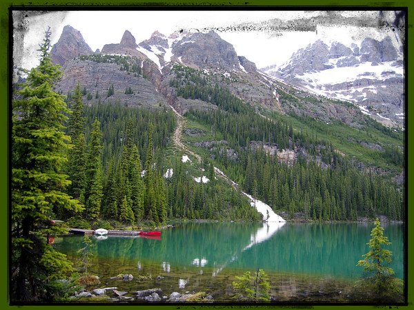 Lake O'Hara in Yoho is beautiful in any kind of weather