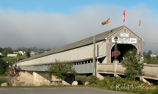 The longest covered bridge in the world - (1282 feet), St. John River, Hartland, New Brunswick. © Rob Huntley