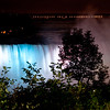 The American Falls at night.