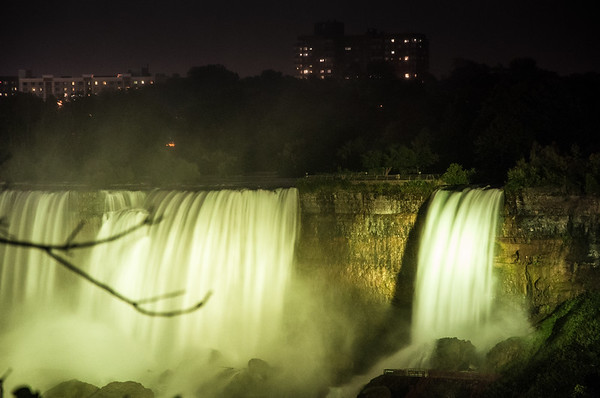 The American Falls at night