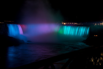 The Canadian Falls At Night