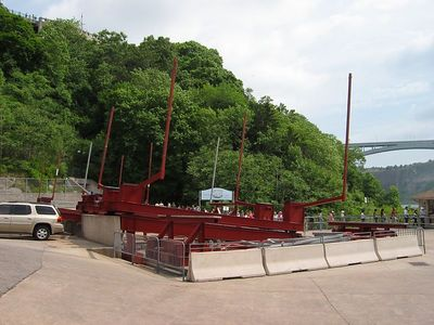 These enormous sleds are used to put the boats in dry dock.