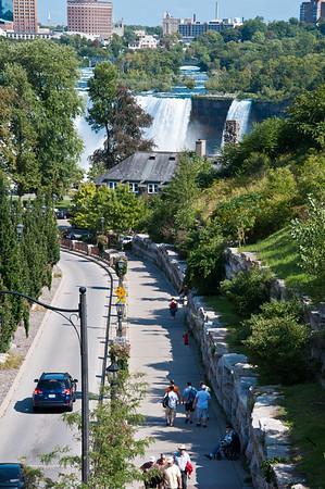 Looking down Murray Street, Niagara Falls, Canada.
