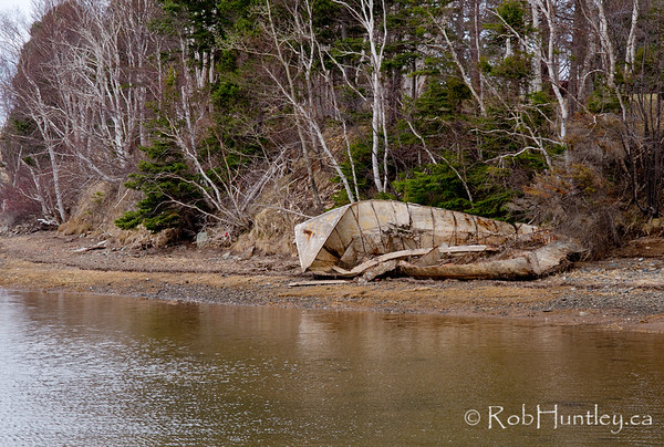 Abandoned boat at Big Island, Nova Scotia