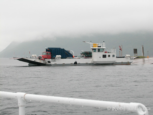 Ferry crossing the bay near Baddeck, NS