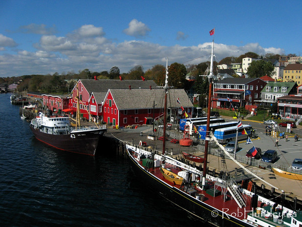 Aerial shot of the Fisheries Museum of the Atlantic