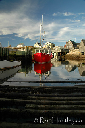 """Harbour Mist"" at Peggy's Cove, Nova Scotia."