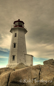 The lighthouse at Peggy's Cove, Nova Scotia, Canada - HDR. © Rob Huntley