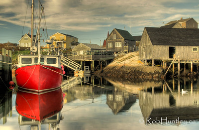Red Boat at Peggy's Cove, Nova Scotia.