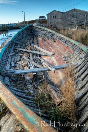 Abandonded boat at Peggy's Cove, Nova Scotia, Canada.