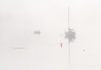 Boats in the Mist 1, Tantallon, NS © Rob Huntley