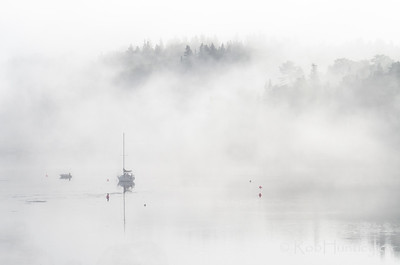 Boats in the Mist 3, Tantallon, NS © Rob Huntley