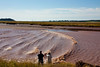 Bay of Fundy Tidal Bore at 3:30 PM<br /> The flow continues for an hour, filling the entire bay to the tops of the banks,<br /> millions and millions of gallons of water.