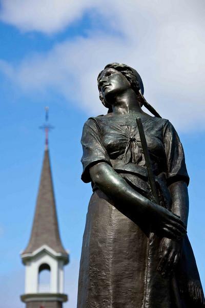 Grand-Pré National Historic Site<br /> Bronze Statue of Evangeline