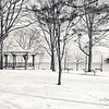 Winter scene at Lakeside Park, Oakville, Ontario Canada