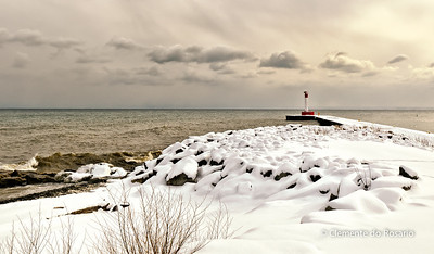 Oakville Lighthouse in winter