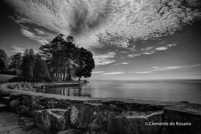 Cloudscape  over Lake Ontario at Gairloch Gardens,Oakville,ON