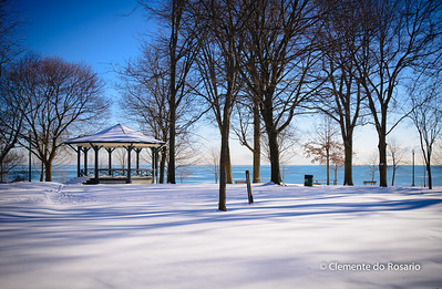 Lakeside Park on the shores of Lake Ontario in Oakville, Ontario,Canada