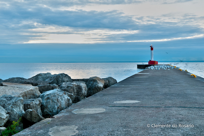 Lighthouse at the entrance to Oakville Harbour, Oakville Ontario