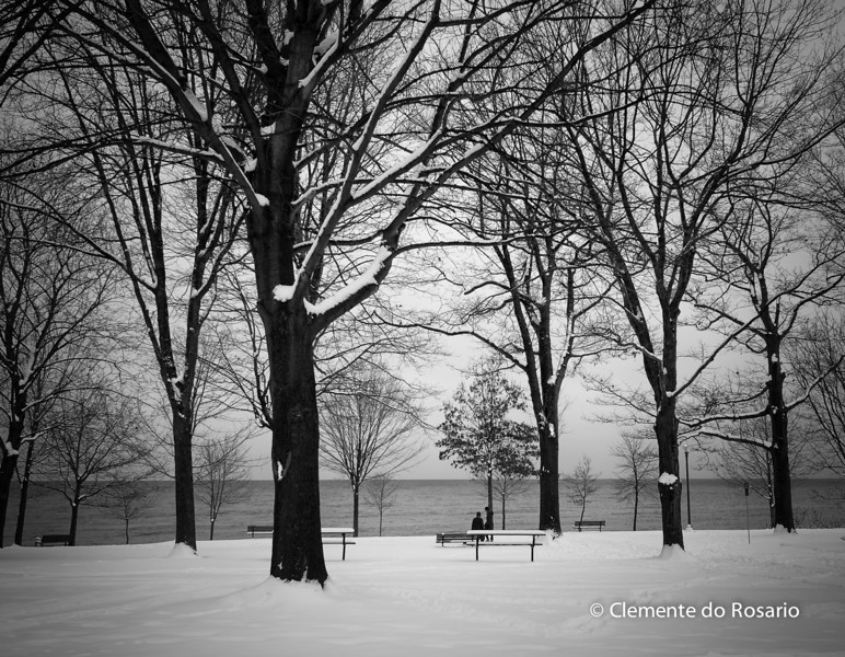 Lakeside Park in Winter, Oakville,Ontario