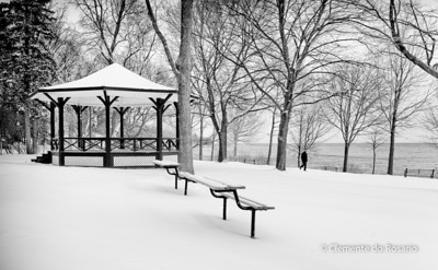 Lakeside Park in Winter, Oakville,Ontario