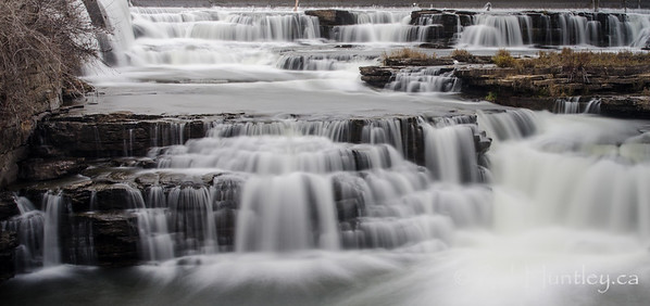 Tiers of waterfalls in Almonte, Ontario.