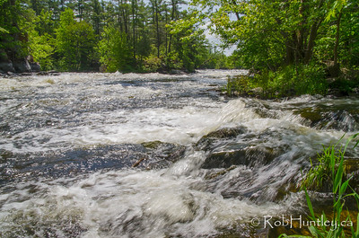 Blakeney Rapids, Blakeney, Ontario. Blakeney is midway between Almonte and Pakenham. The rapids run between islands in the Mississippi River in Eastern Ontario. © Rob Huntley