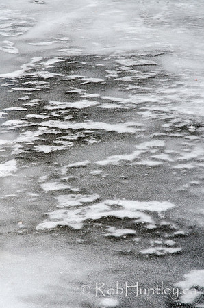 Ice textrure on the Rideau River in Manotick, Ontario © Rob Huntley