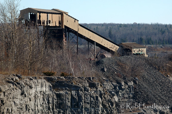 Derelict building at the Marmora Iron Mine, Marmora, Ontario.