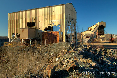 Derelict building at the Marmora Iron Mine, Marmora, Ontario. HDR - high dynamic range (3 exposures mapped into one).  © Rob Huntley