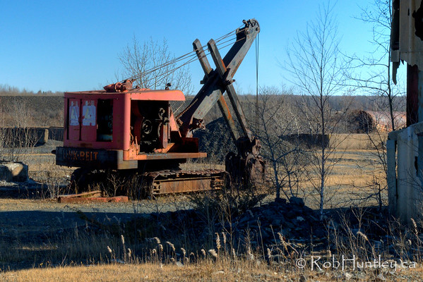 Abandoned digger at the Marmora Iron Mine, Marmora, Ontario.