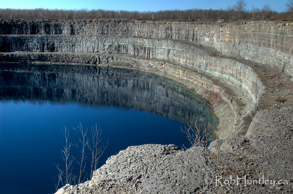 Quarry pond at Marmora Iron Mine.