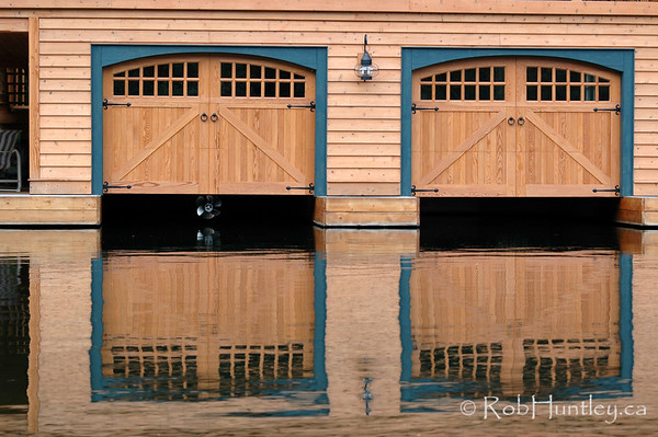 Boat house on Lake Joseph in the Muskokas. © Rob Huntley