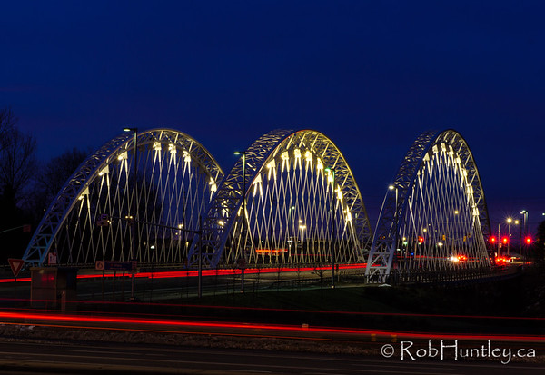 Vimy Memorial Bridge in Blue Twilight