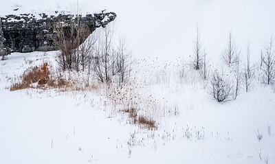 Quarry in winter.