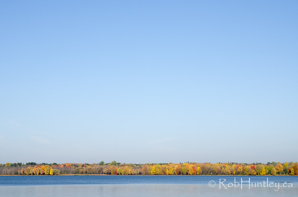Quebec Shoreline of the Ottawa River in the Fall.