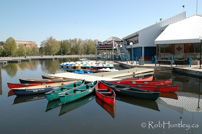 Canoes at Dow's Lake Pavilion