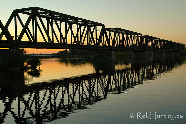 Prince of Wales Bridge at Sunset.