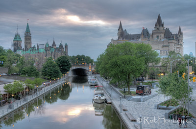 Evening view of the Rideau Canal