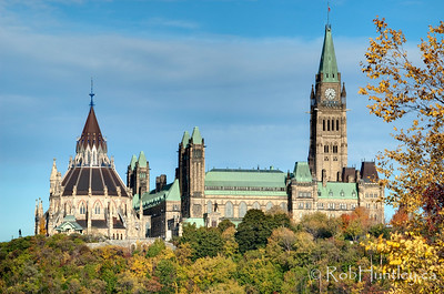 Parliament Hill in autumn, Ottawa, Ontario.