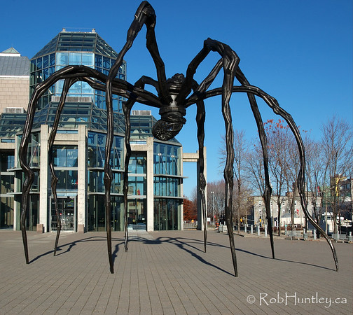 Giant spider sculpture, Maman, outside the National Gallery of Canada