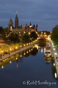Rideau Canal and the Parliament Buildings at Night