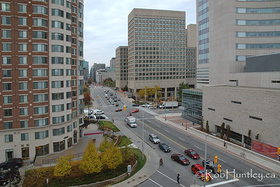 An uncommon view of downtown Ottawa.