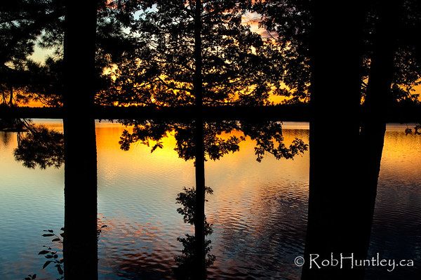 The view of Black Lake at sunset from the front of the cottage. © Rob Huntley