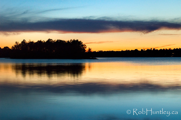 Dusk on Black Lake.